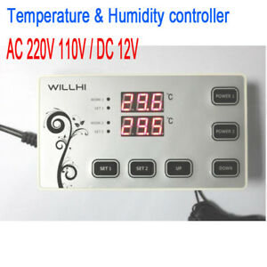 Electronic Digital Temperature Humidity Controller 55 110c Thermostat Control