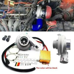 Car Improve Speed Fuel Saver Electric Turbo Supercharger Kit Air Filter Inta