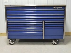 Snap On 68 Midnight Blue Epiq Tool Box Toolbox Stainless Steel Work Top