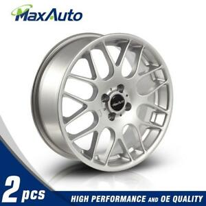 2 Pcs 17x7 4x100 73 1 42mm Offset For 2003 Mini Cooper Silver Wheels Rims