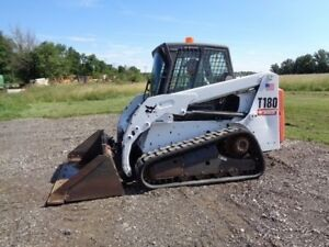 2011 Bobcat T180 Skid Steer Cab heat air Power bobtach 2 865 Hours