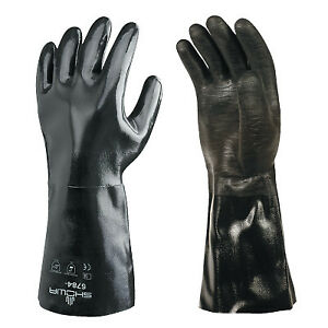 Neoprene Protective Gloves Black Smooth Large
