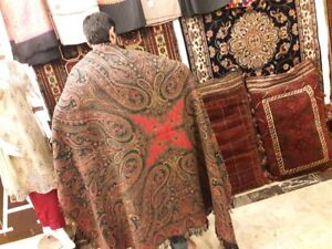 Antique French Ladies Shawl Antique French Paisley Square Shawl Best Price