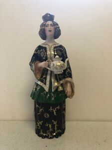 Antique Rare Russian Porcelain Figurine Decanter By Popov Factory Circa 1840