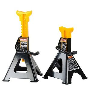 Craftsman Jack Stands 4 Ton Capacity 2 Pc Mechanics Garage Lift Equipment 50163