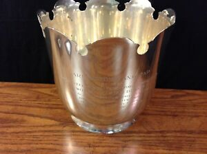Tiffany Sterling Silver Presentation Trophy Wine Cooler Ice Bucket Arlington