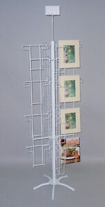 32 Pockets Literature Floor Display Rack Stand Magazine Book Prints 8x10 Usa