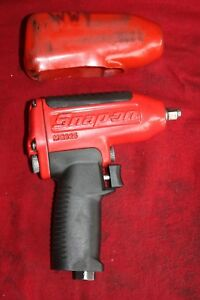 Snap on Tools 3 8 Drive Pneumatic Impact Air Wrench Mg325 Red W Boot Used