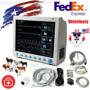 Usa Vet Veterinary Icu Patient Monitor Printer ecg nibp pr spo2 temp resp ce fda