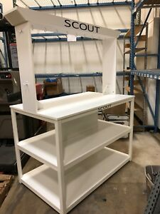 Large Versatile Retail Display Fixture table White