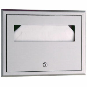 Bobrick B 301 Stainless Steel Recessed Seat cover Dispenser