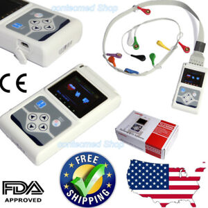 Ecg Holter 12 Channel 24h Ekg Monitor Holter Analyzer pc Software Fda Ce Newest