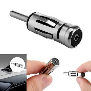 Connector Alloy Iso To Din Car Radio Stereo Aerial Plug Antenna Mast Adapter