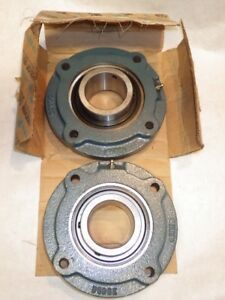 2 Dodge 2 1 2 Ball Bearings Flanges Fcscm208 126179 Free Usa Ship