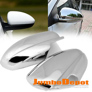 Triple Chrome Side Door Full Mirror Cover Trim Pair For Chevy Cruze 2009 2015