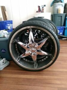 24 Inch Truck Rims And Tire Package With 5 Lug Pattern