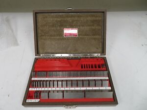 Starrett Webber Square Grade 1 88 Pc Sc88aa Croblox Gage Block Set Nd41
