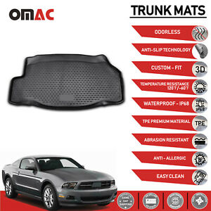 Cargo Liner Trunk Floor Mat 3d Molded For Ford Mustang Coupe 2010 2014