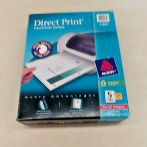 Avery Direct Print Presentation Dividers 5 Tabs 24 Sets