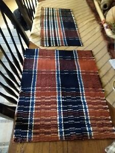 Beautiful Antique Coverlet Two Piece Runners
