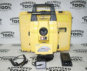 Leica Icon Robot 50 Robotic Total Station Icr55 With Case Battery Charger