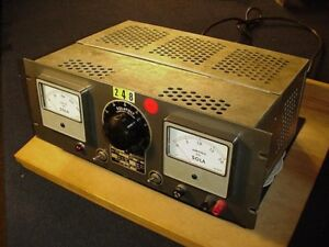 Sola Solavolt Adjustable Power Supply Cat 285140 In 100 130ac Out 60 180 Dc