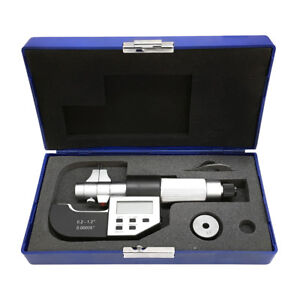 0 2 1 2 Electronic Inside Micrometer 0 00005 Resolution Ratchet Stop Rs232