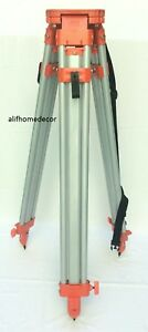 New Flat Head Aluminum Quick Clamp Survey Contractor Tripod For Transit Laser