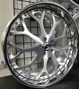 22 Forgiato Drea Brushed 3 piece Forged Mercedes S550 S600 S63 Audi Bentley