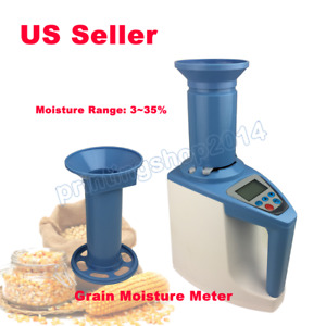 110v Lds 1g Grain Moisture Meter Digital Fast Seed Cereal Corn Moisture Analyzer