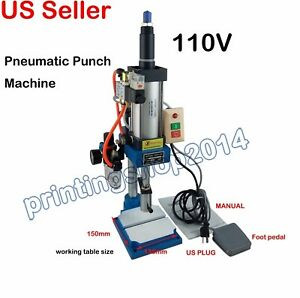 110v Pneumatic Punch Press Machine Top grade Pneumatic Milling Equipment