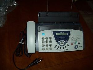 Brother Fax 575 Plain Paper Fax Phone Copier With 3 Replacement Print Cartridges