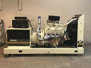 60 Kw Generator Kohler Propane 12 Lead Reconnectable 120 240 Volts Natural Gas