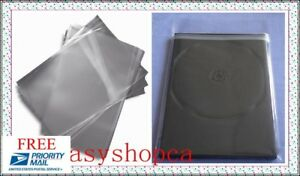 New 5000 Opp Resealable Plastic Wrap Bags For 7mm Slim Dvd Case Peal