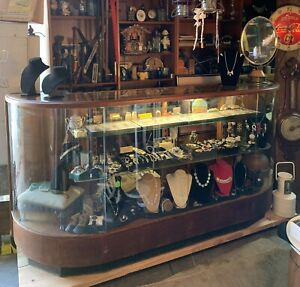 Antique General Store Beautiful 7 Vintage Display Showcase Nice Condition