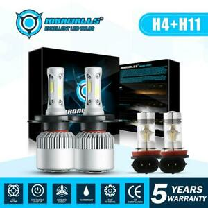 H4 H11 Total 3000w 450000lm Led Headlight Conversion Kit 6500k High Low Fog Bulb