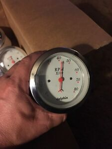Dolphin Gauges 8000 Rpm Tachometer Gray Electric
