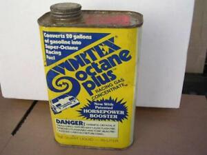 Vintage Vortex Octane Plus Racing Gas Concentrate Full 1 Quart Can Waldwick NJ