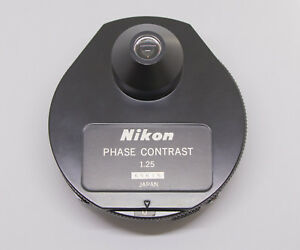 Refurbished Nikon Phase Contrast Dark Field Condenser 1 25 Df Ph1 Ph2 Ph3 Ph4