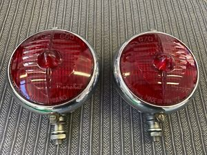 Marchal 670 680 Ultra Rare Pair Of Red Lens Brake Fog Lights Ferrari 250 275