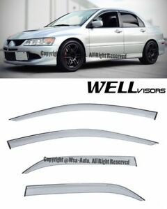 For 02 06 Mitsubishi Lancer Wellvisors Side Window Visors Premium Series