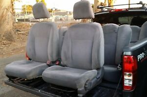 2001 2002 2003 2004 2005 Honda Civic Lx 4dr Seats Set Used Grey Cloth