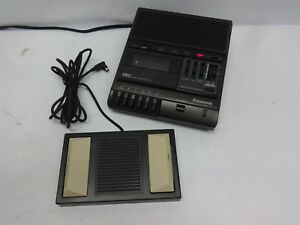 Panasonic Vsc Standard Cassette Transcriber Dictation With Foot Pedal Rr 830