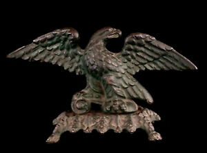 Antique Early American Federal Cast Iron Eagle 1850 2449