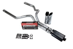 Chevy Gmc 1500 Truck 88 95 3 Dual Exhaust Kits Flowmaster Super 44 Slash Tip