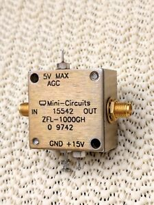 Mini circuits Variable Gain Rf Amplifier Model Zfl 1000gh Vgc