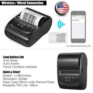 Pos 5802dd Mini Portable Wireless Usb Thermal Printer Receipt Ticket Pos Print