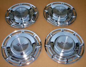 1960 Chevy Impala Deluxe 14 Full Hubcaps Wheel Covers Set