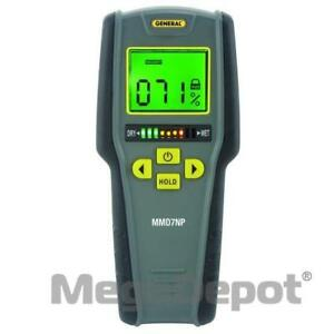 General Tools Mmd7np Pinless Lcd Moisture Meter With Tricolor Bar Graph