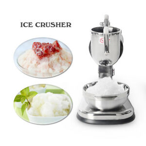 Stainless Steel Electric Snow Cone Machine Ice Shaver Crusher Maker Commercial